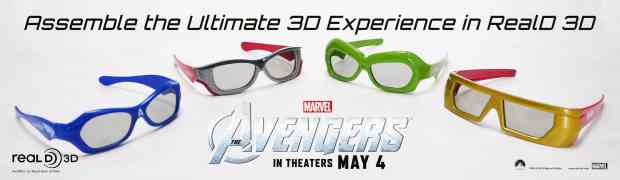 The Avengers x RealD 3D glasses