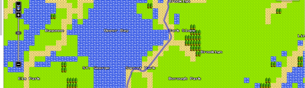 April Fool's: Google Map 8 Bit