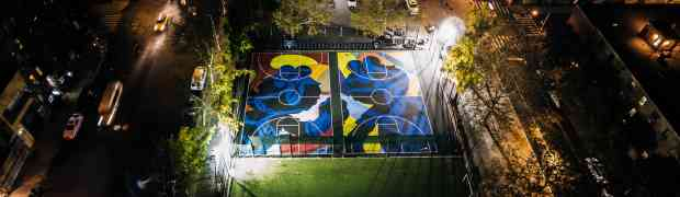 NIKE OPENS NEW YORK MADE: STANTON STREET COURTS BY KAWS