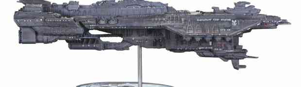 The UNSC Spirit of Fire and UNSC Vulture Join Halo Line